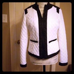 MYTHOLOGY black white quilted jacket